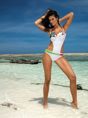 Costum de baie Mandy white - Alb