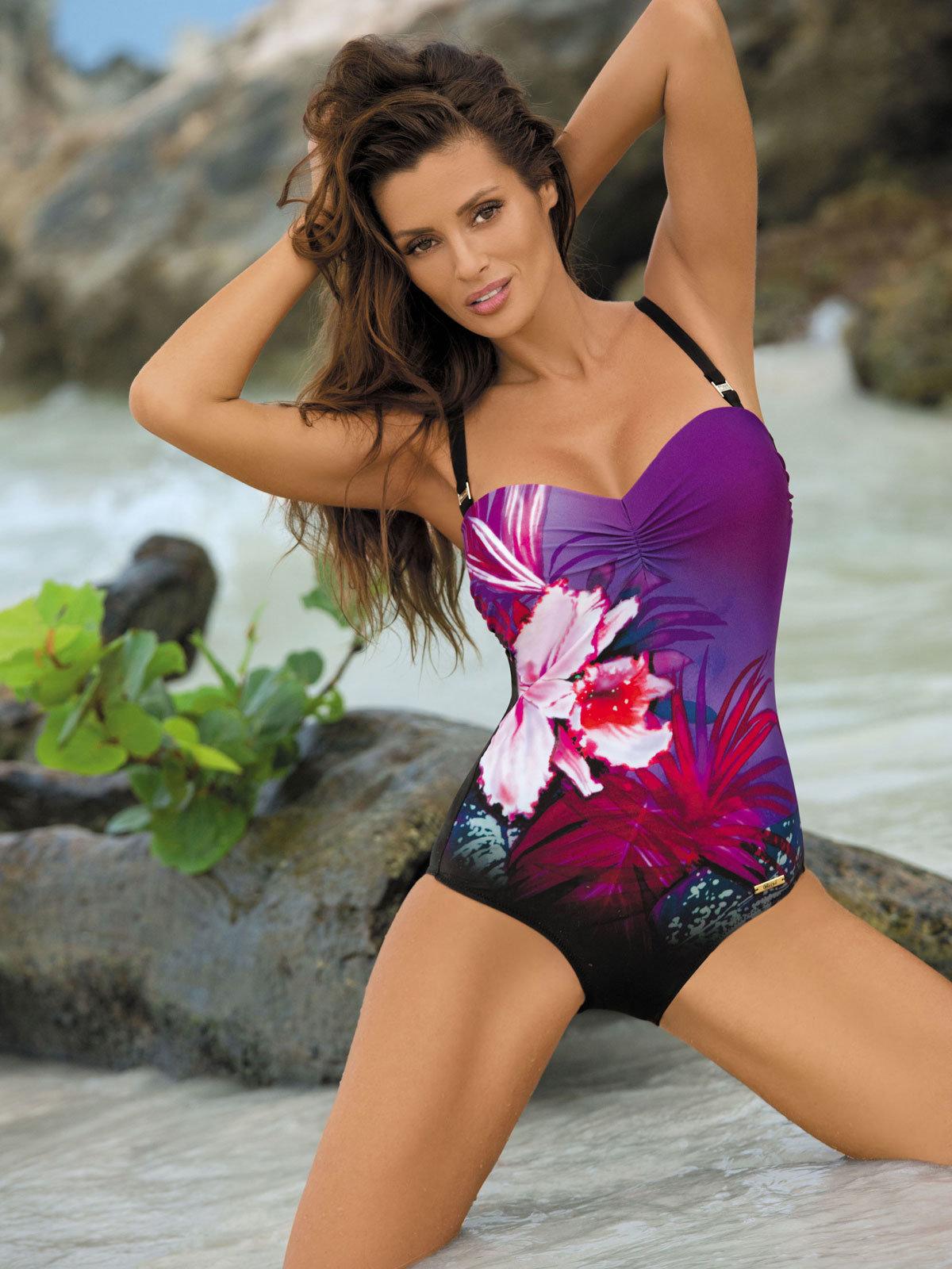 Costum de baie Nicole purple