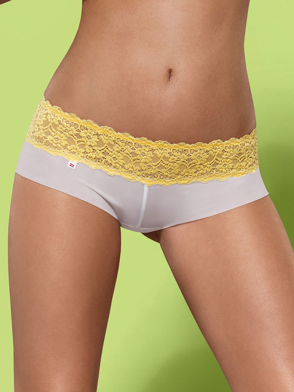 Chilot Obsessive Lacea shorties & thong galben 2 bucati
