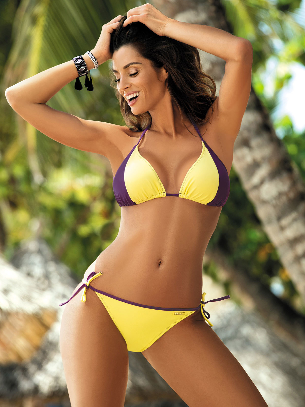 Costum de baie Anis yellow