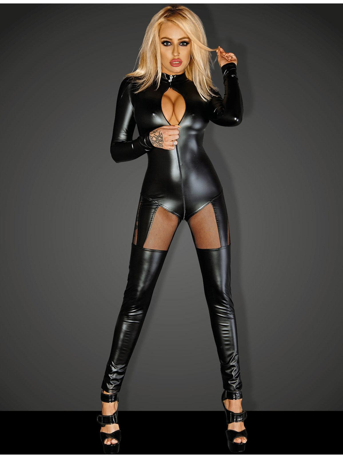Catsuit Queen Negru