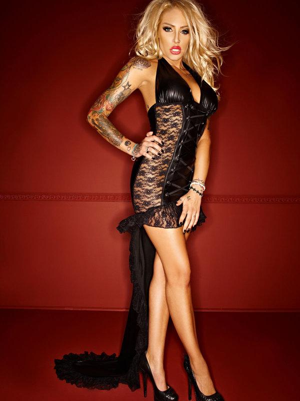 Rochie Noir Handmade Long dress