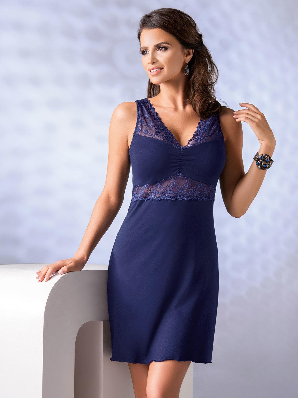 Donna Chemise Viola Albastru