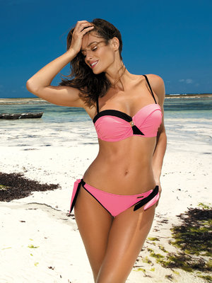 Costum de baie Jessica hot pink - Roz