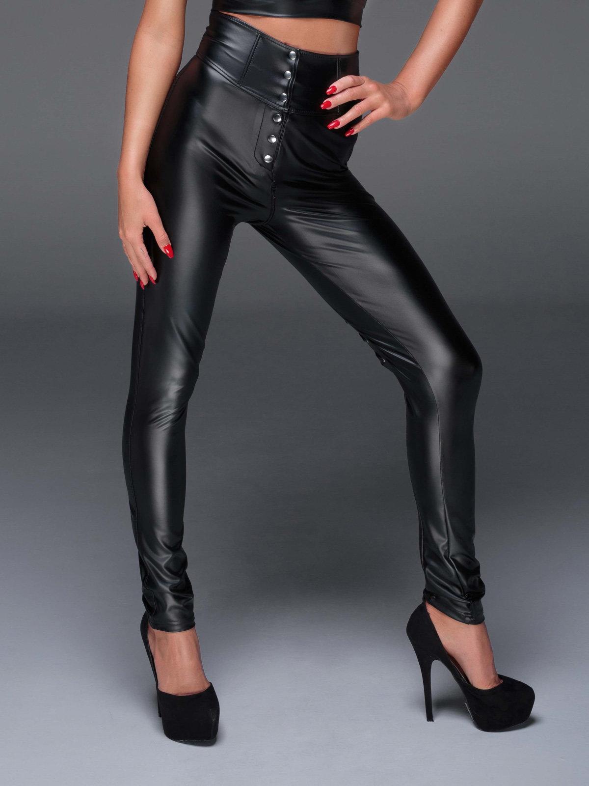 Colanti Powerwetlook pants Negru F148
