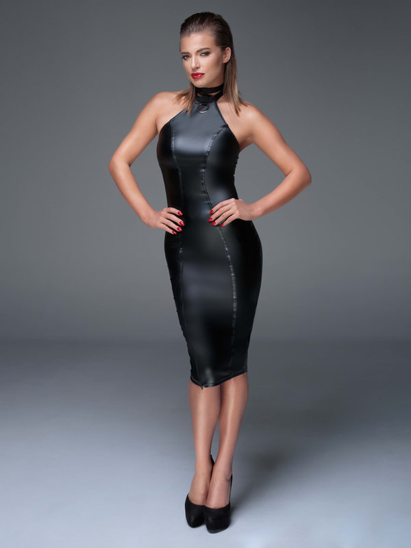 Chemise Noir Handmade Powerwetlook pencil dress