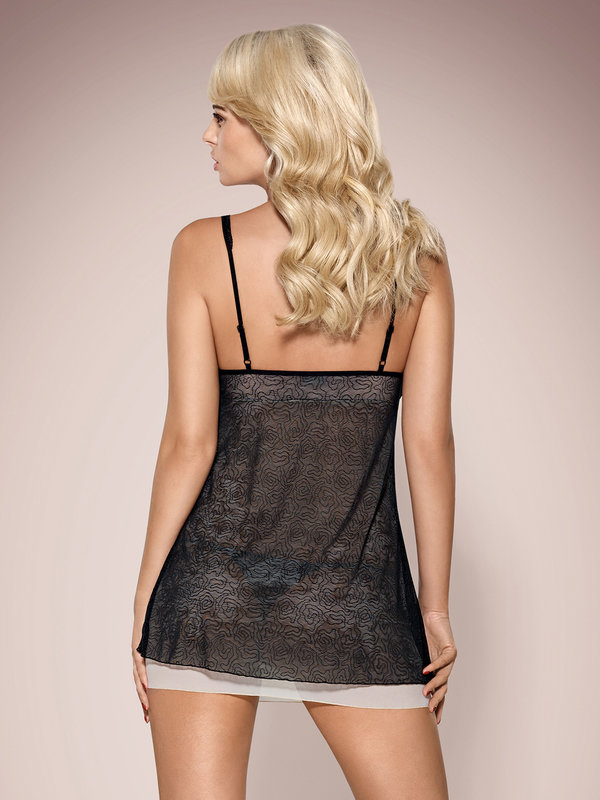 Chemise Obsessive 811-BAB babydoll and thong