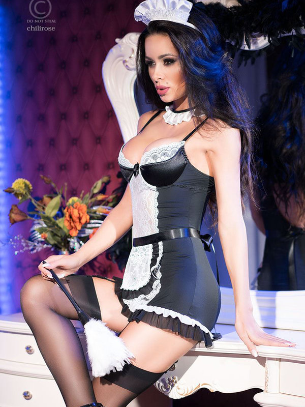 Costum Chilirose Maid Dress Set