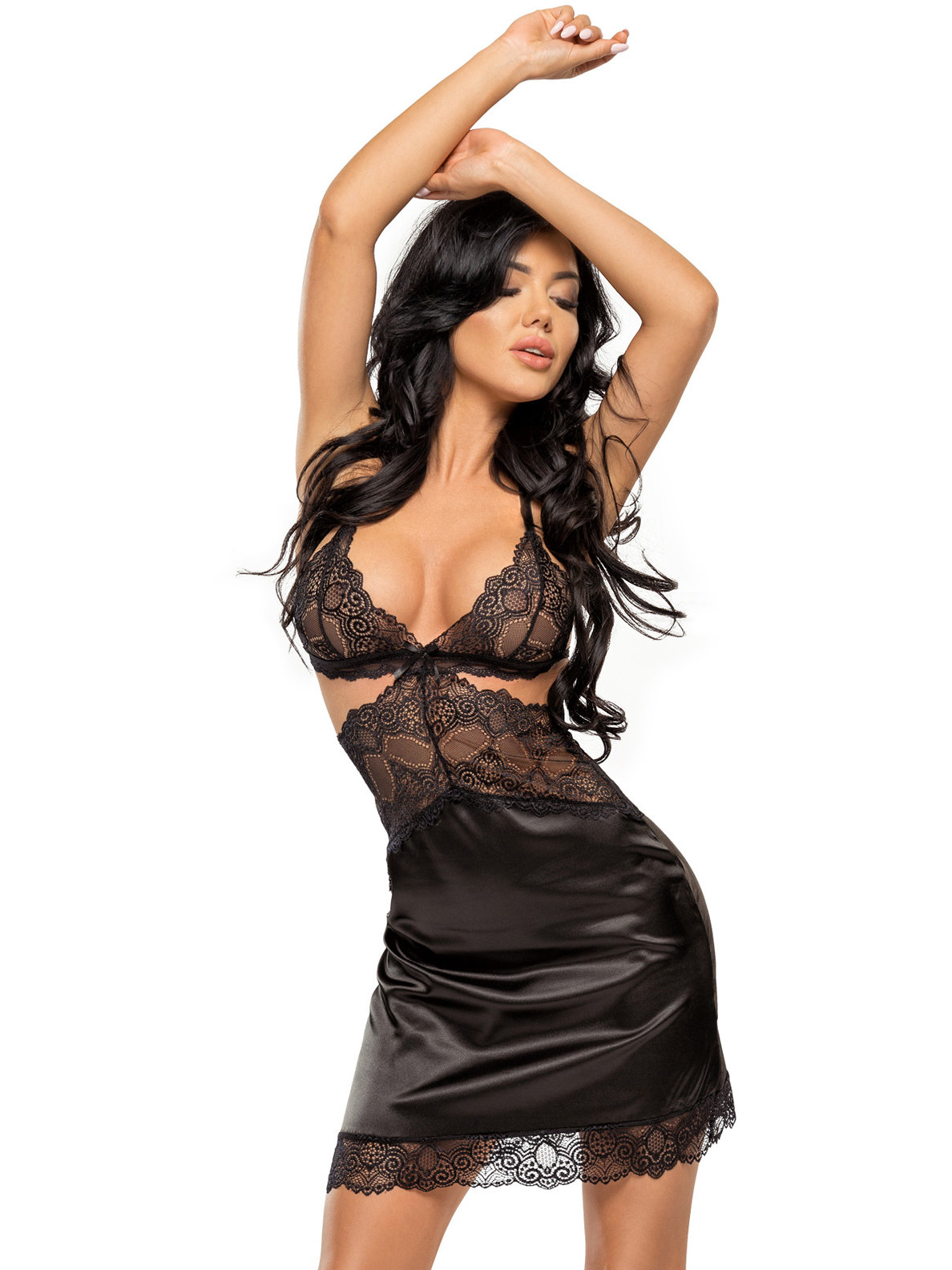 Chemise Adelaide Negru de la Beauty Night