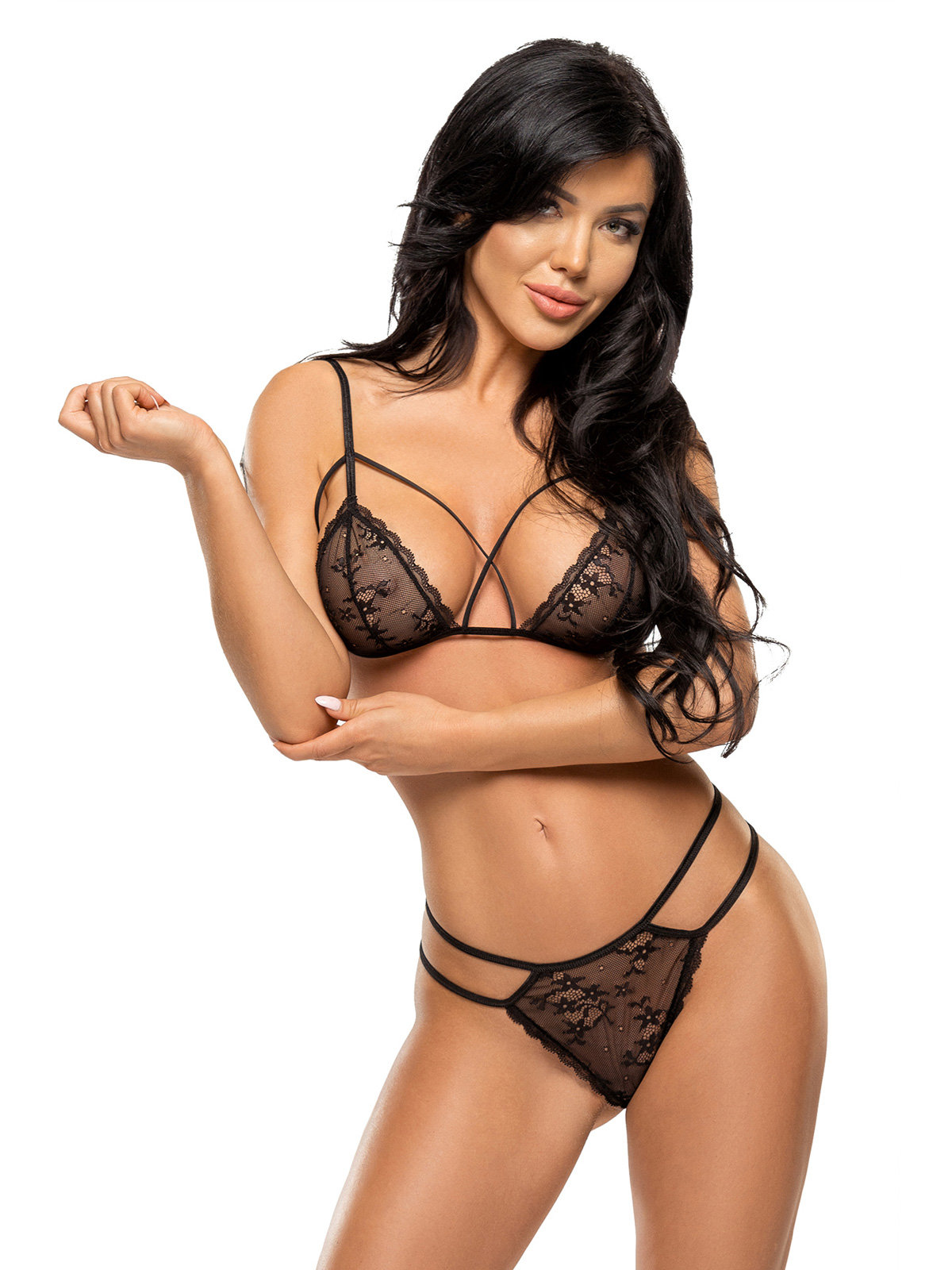 Set sexy Aryana Negru de la Beauty Night