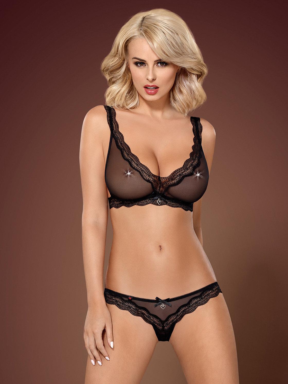 Set sexy 839-SET Negru de la Obsessive