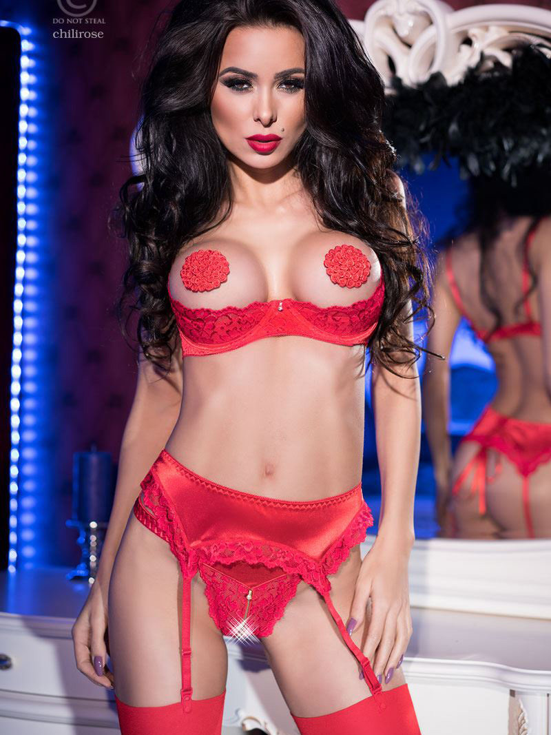 Set sexy Phily Rosu de la Chilirose