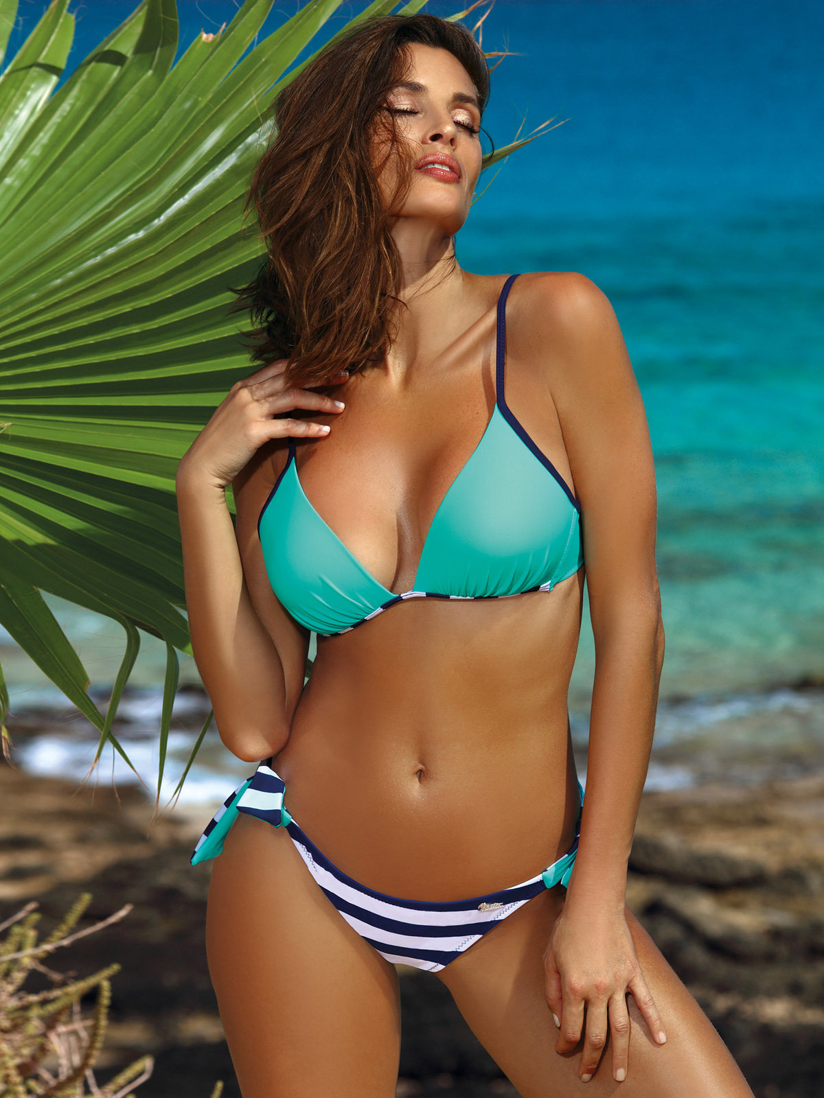 Costum de baie Nelly blue Bleu