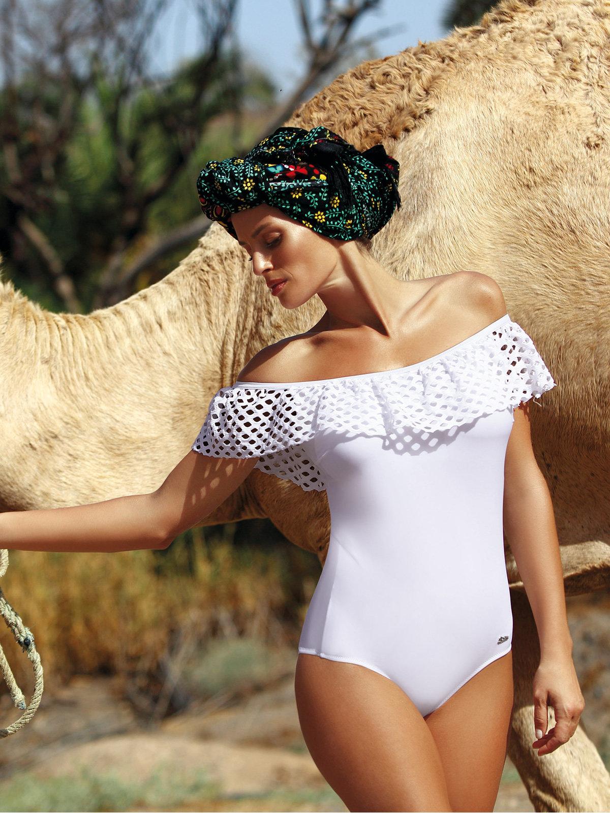 Costum de baie Sonia bianco Alb
