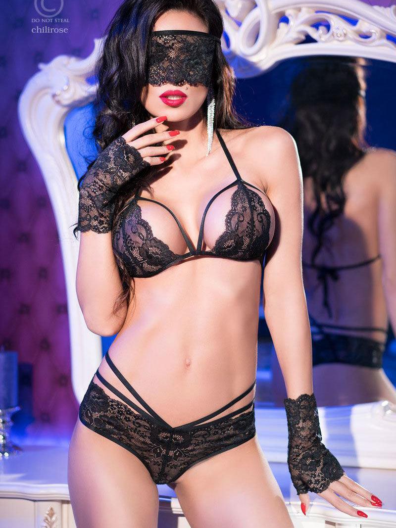 Set sexy Lucia Negru de la Chilirose