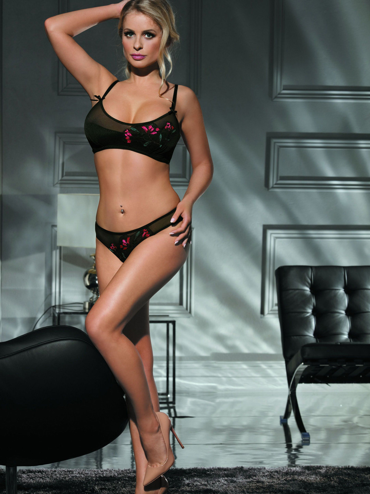 Excellent Beauty Set sexy L-132 Negru