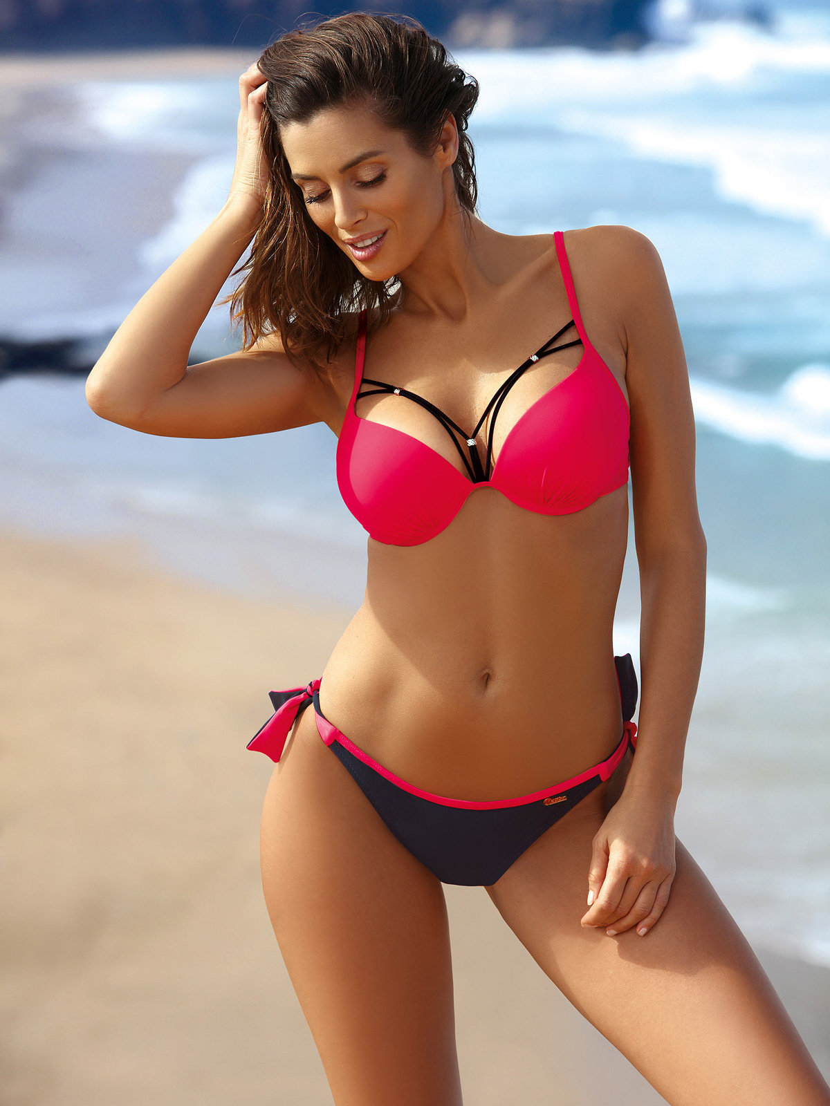 Costum de baie Virginia Squalo-Shock Red Rosu
