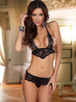 Set sexy Luisa - Negru