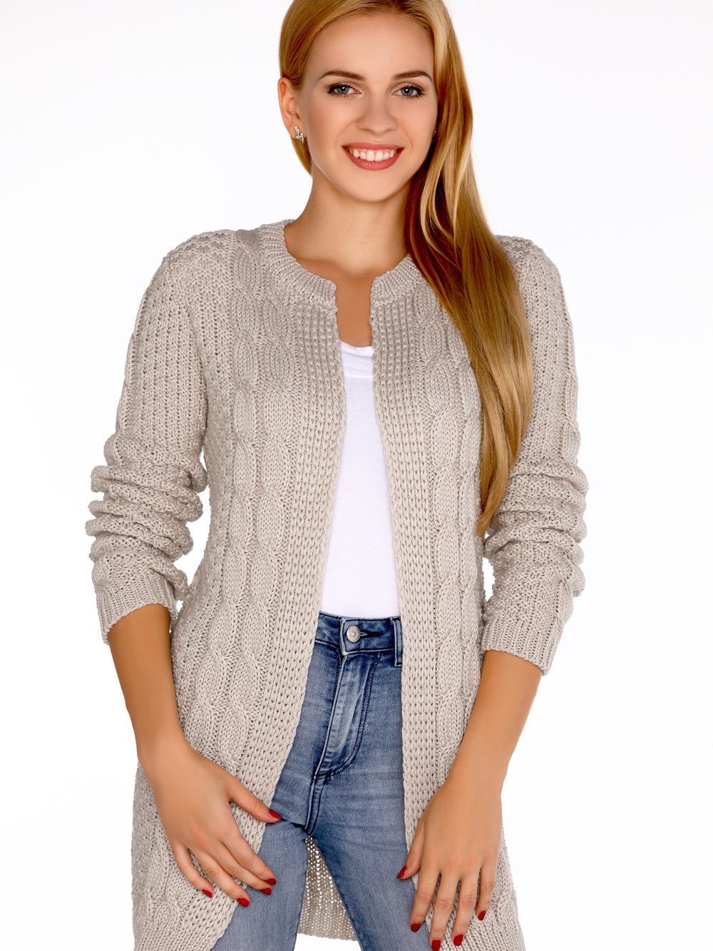 Merribel Cardigan Anionees Beige Bej
