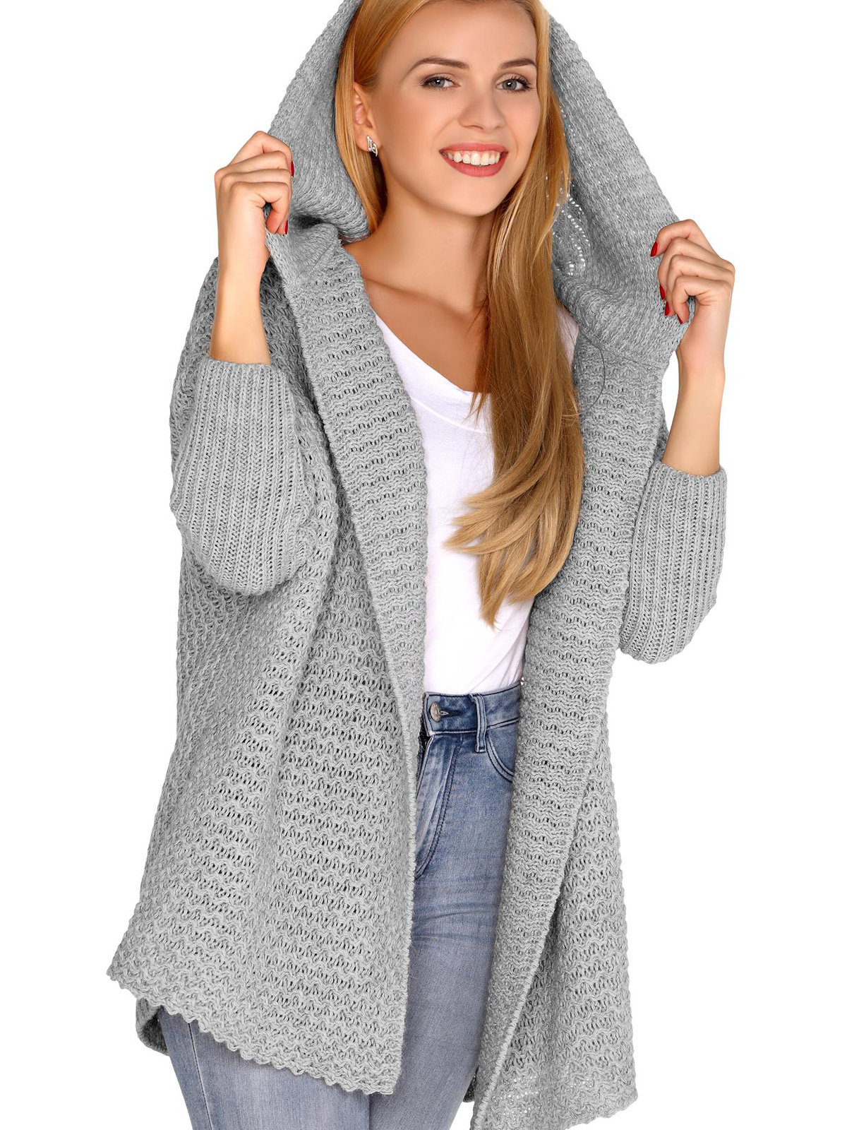 Cardigan Dalena Grey Gri de la Merribel