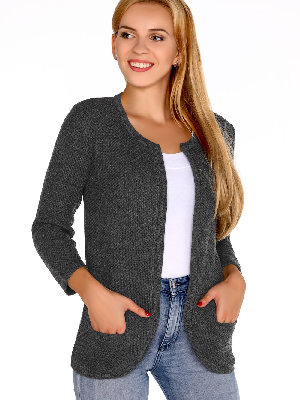 Merribel Cardigan Hetiena Graphite Gri