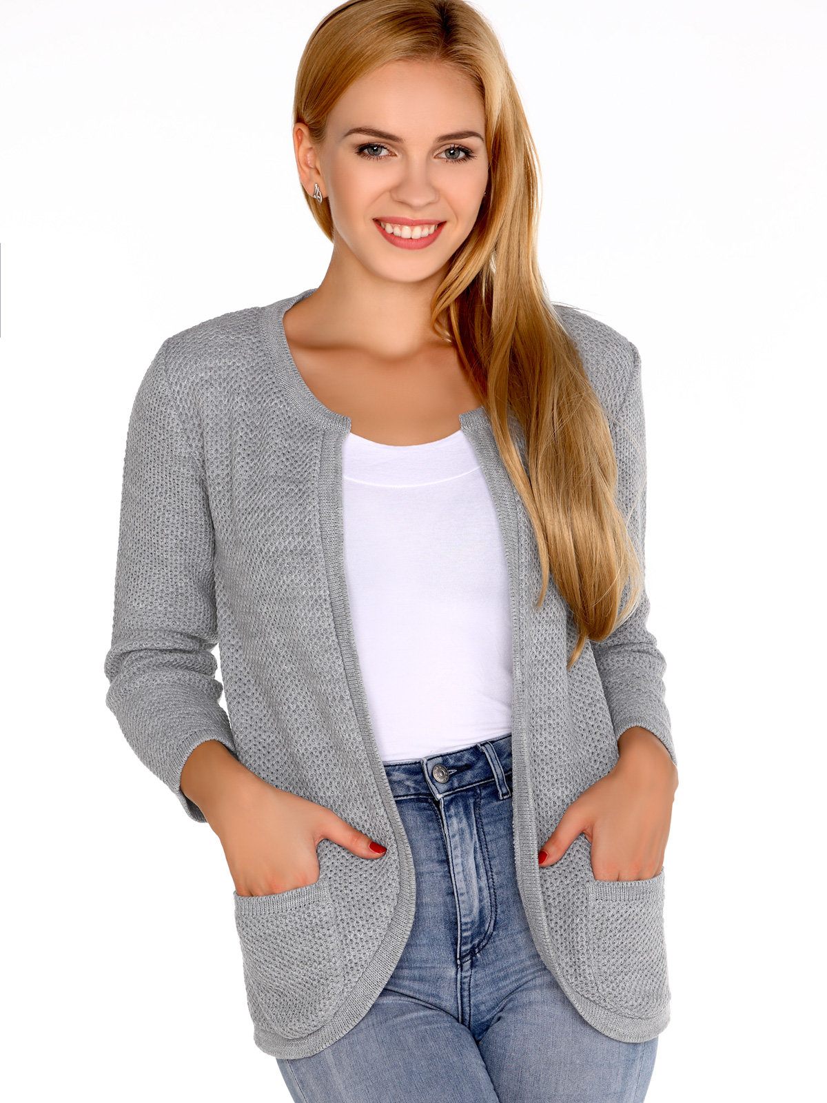 Merribel Cardigan Hetiena Grey Gri