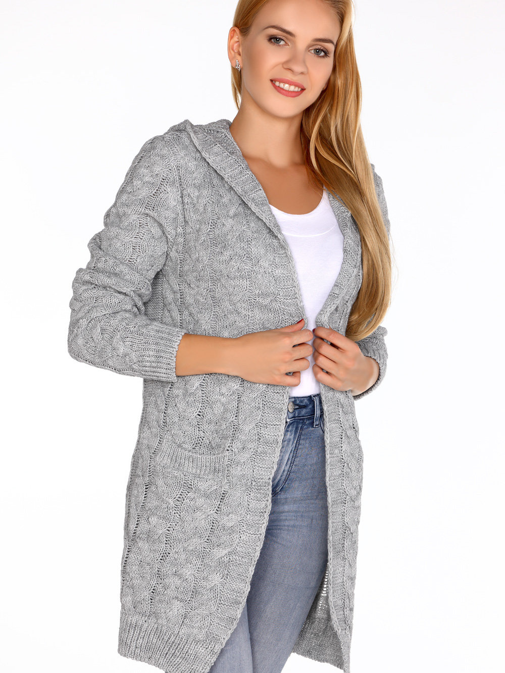 Merribel Cardigan Jolannda Grey Gri