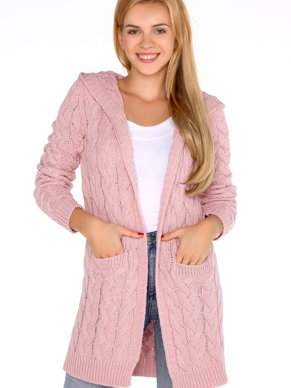 Merribel Cardigan Jolannda Powder Roz