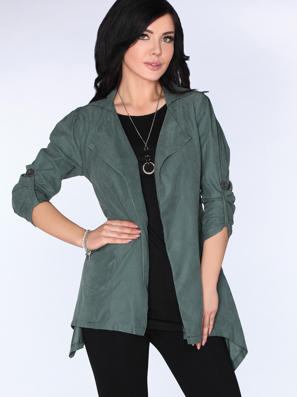 Merribel Cardigan CG026 Dark Green Verde