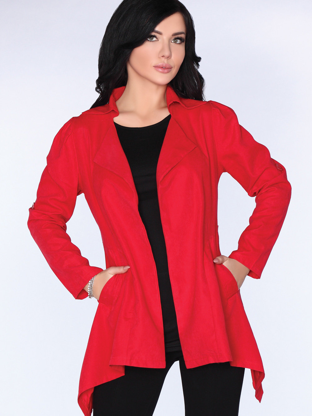 Cardigan CG026 Red Rosu de la Merribel
