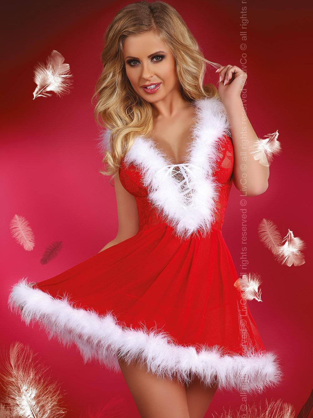 Costum Snowflake Rosu