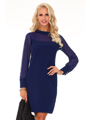Rochie Venetiana Dark Blue 85373 - Albastru