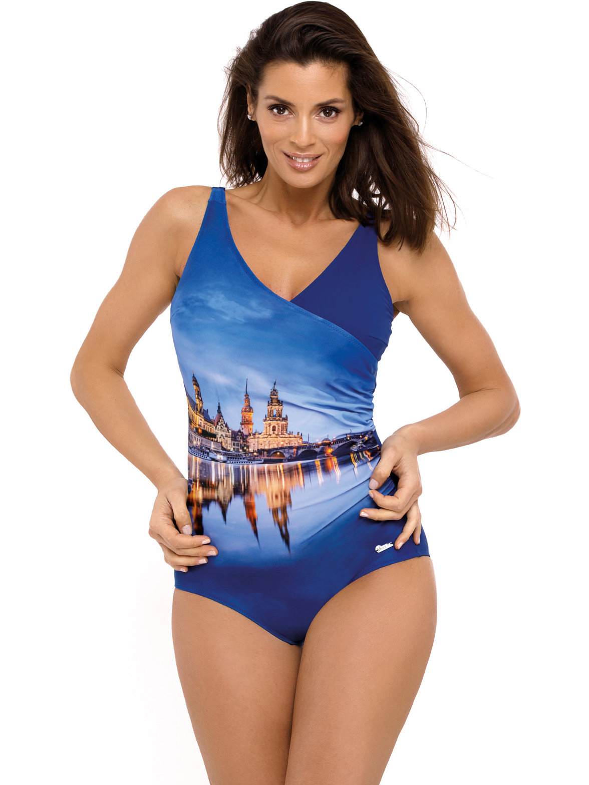 Costum de baie Daniella Blueberry Albastru
