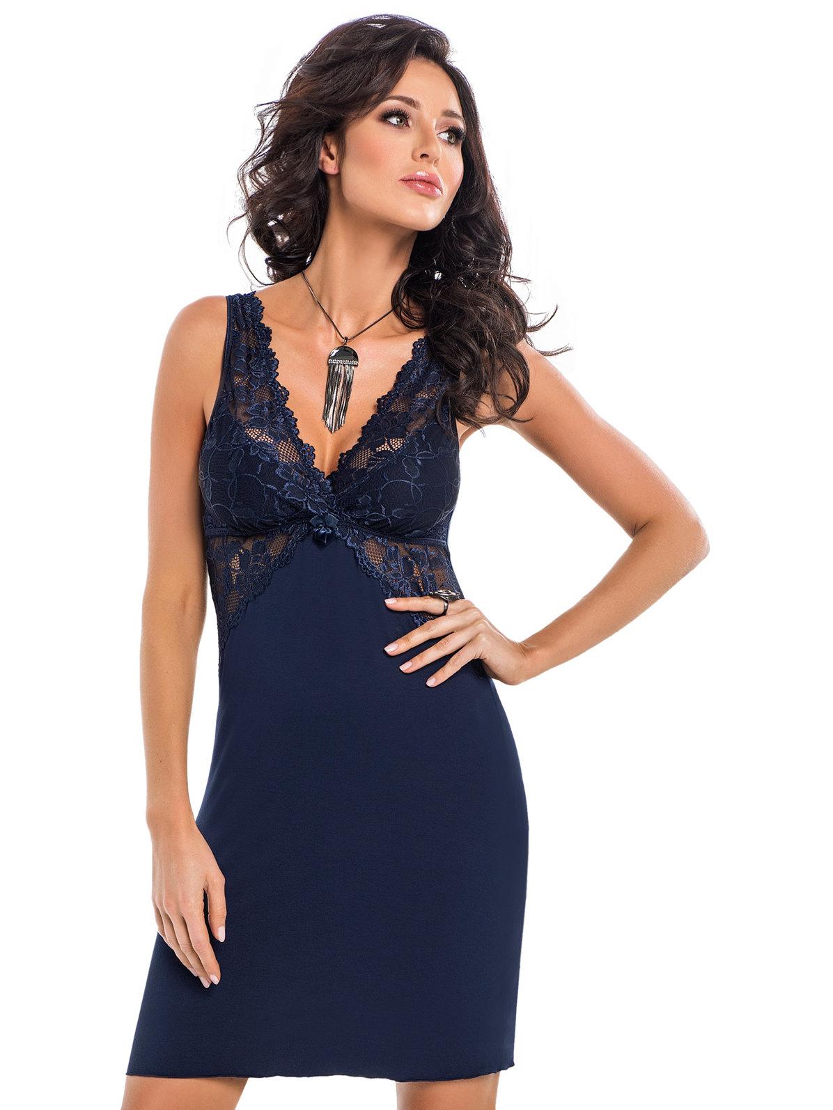 Chemise Irina Granatowa Albastru - Imbracaminte sexy