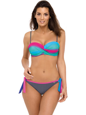 Costum de baie Donna Ardesia - Rosa Shocking - Gri