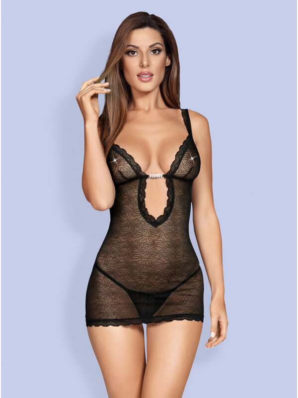 Chemise Obsessive 877-CHE-1 chemise & thong