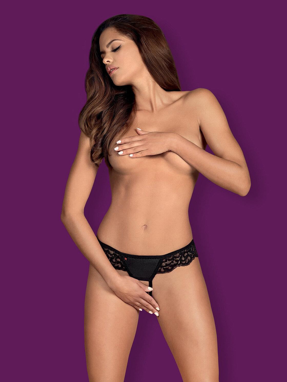 Chilot Laluna crotchless panties Negru