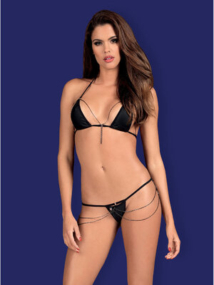 Set sexy Rebella 2-pcs - Negru