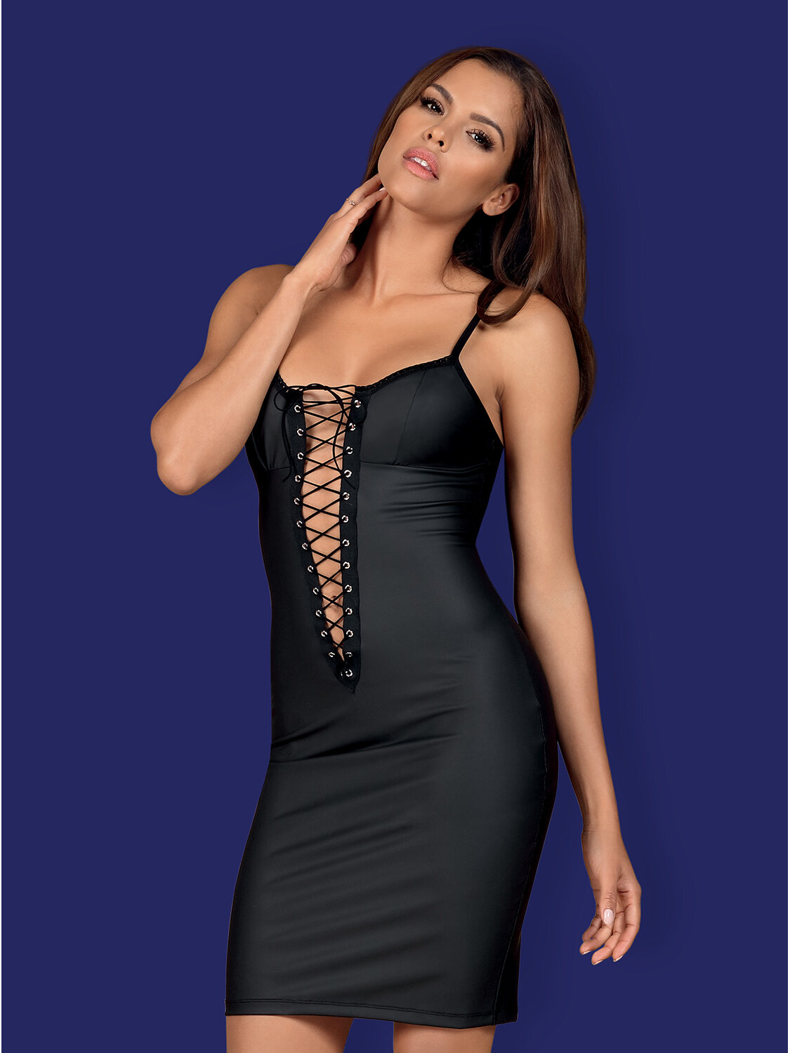 Obsessive Chemise Rebella dress Negru