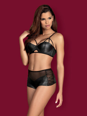 Set sexy Leatheria 2-pcs - Negru