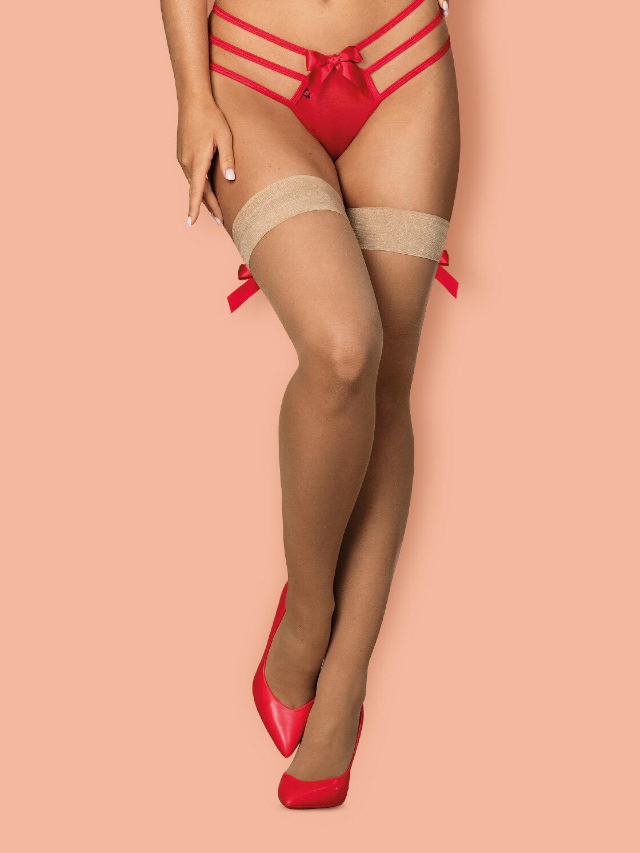 Obsessive Dresuri S808 stockings Crem