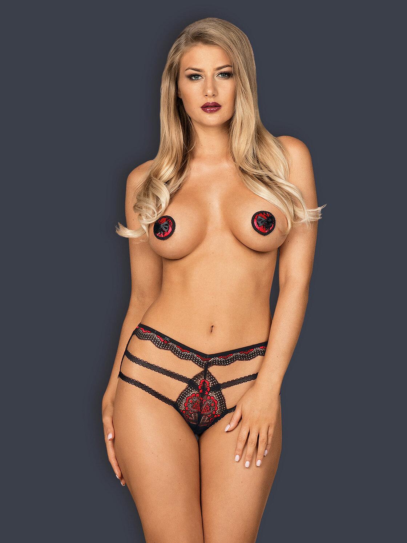 Obsessive Megies nipple covers Negru