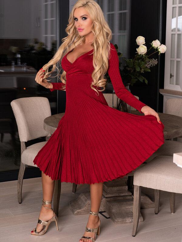 Rochie Merribel Frojene Wine Red