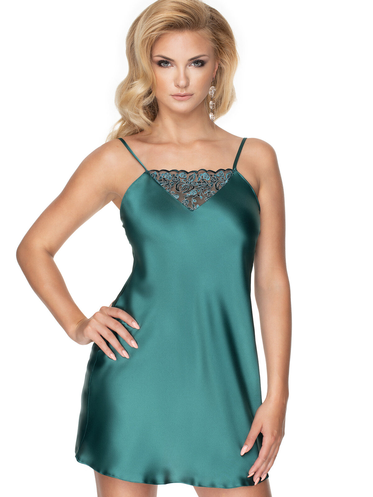 Chemise Emerald I Verde Emerald I nightdress