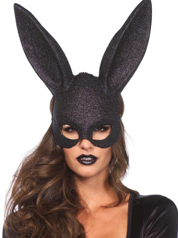 Masca 3760 Negru 3760 Glitter masquerade rabbit mask