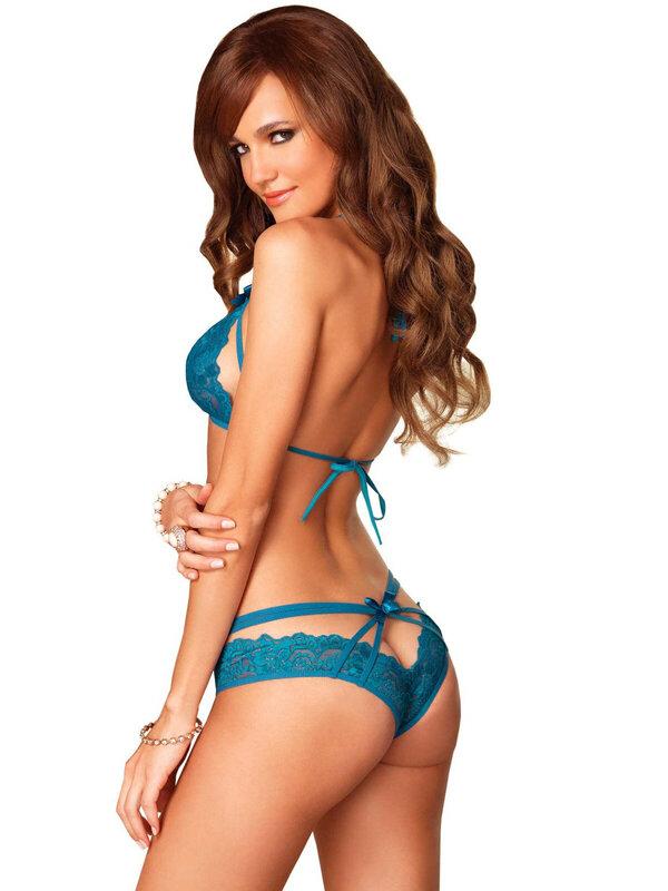 Set sexy Leg Avenue 81413 Lace Halter Bra & Panty