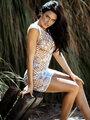 Chemise Leg Avenue 81541 Bordeaux net bodycon dress