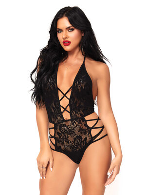 81550 Strappy halter lace teddy