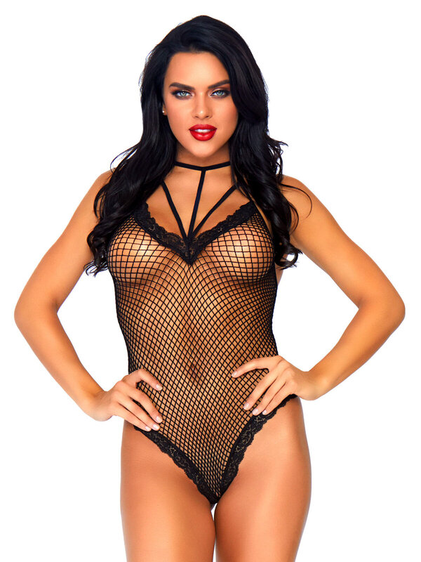 Body Leg Avenue 81582 Cage strap thong back teddy