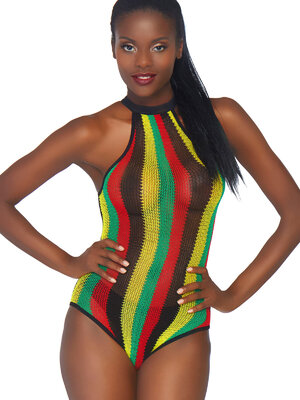 81585 Rasta bodysuit w. snap crotch